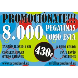 8.000 PEGATINAS 11,5x16,5 cm