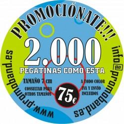 2.000 ROUND STICKERS 7 cm