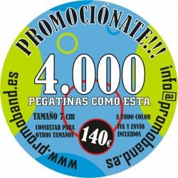 4.000 PEGATINAS REDONDAS 7 cm