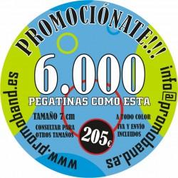 6.000 PEGATINAS REDONDAS 7 cm
