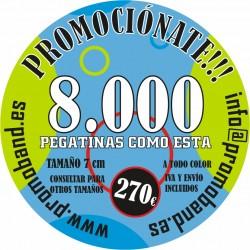 8.000 PEGATINAS REDONDAS 7 cm