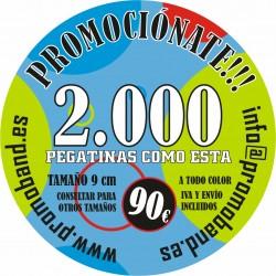 2.000 PEGATINAS REDONDAS 9 cm