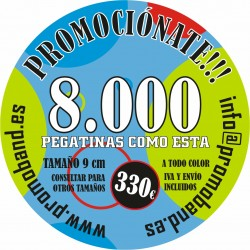 8.000 ROUND STICKERS 9 cm