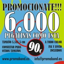 6.000 PEGATINAS CUADRADAS...