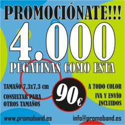 4.000 PEGATINAS CUADRADAS...