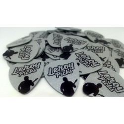 100 Silver custom guitar picks
