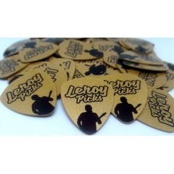 1000 púas de guitarra Doradas