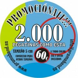 2.000 PEGATINAS REDONDAS 5 cm