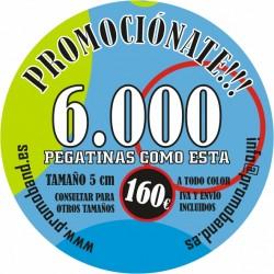 6.000 PEGATINAS REDONDAS 5 cm