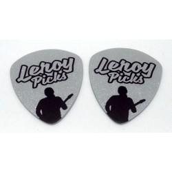 2 púas de guitarra Plateadas