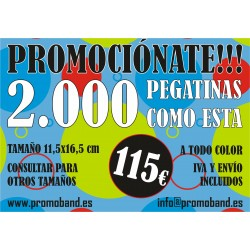 2.000 PEGATINAS 11,5x16,5 cm
